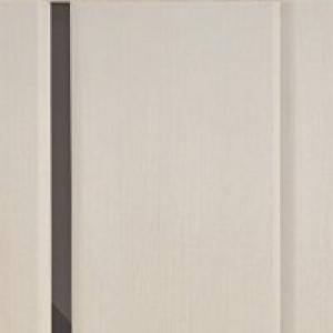 Межкомнатная дверь Дворецкий спектр 1 стекло черное беленый дуб