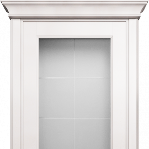 Межкомнатная дверь Status Classic 552 английская решетка карниз белый жемчуг