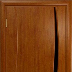 Межкомнатная дверь Арт Деко Вэла 1 анегри стекло чёрное