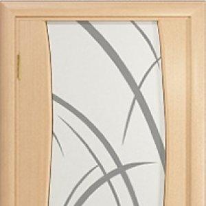Межкомнатная дверь Арт Деко Вэла белёный дуб